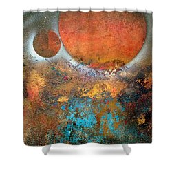 From Planet's View Shower Curtain