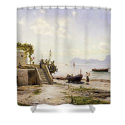 From Sorrento Towards Capri Shower Curtain by Peder Monsted
