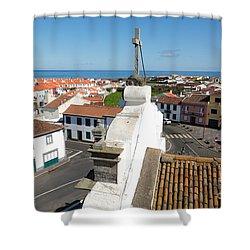 From The Church Tower Shower Curtain by Gaspar Avila