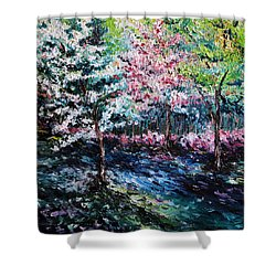 Shower Curtain featuring the painting From The Earth by Meaghan Troup
