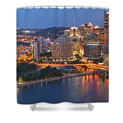 From The Fountain To Ft. Pitt Shower Curtain