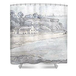 From The Heathfields Seat Shower Curtain by Francis Towne