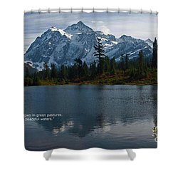From The Hills Shower Curtain by Rod Wiens