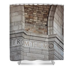 From The Moral... Shower Curtain by Art Whitton