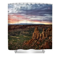 From The Overlook - Colorado National Monument Shower Curtain by Ronda Kimbrow