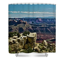 Shower Curtain featuring the photograph From Yaki Point 2 Grand Canyon by Bob and Nadine Johnston