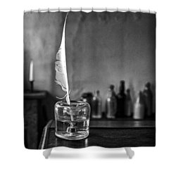 Front Desk Shower Curtain by Jeff Burton