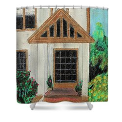 Shower Curtain featuring the painting Front Door 1 by Jeanne Fischer
