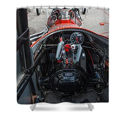 Front Engine Dragster Cockpit Shower Curtain