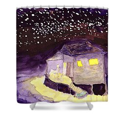 Front Porch Stars Shower Curtain