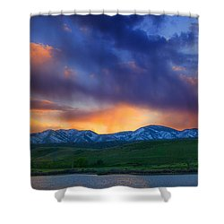 Front Range Light Show Shower Curtain