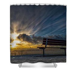 Front Row Shower Curtain by James  Meyer