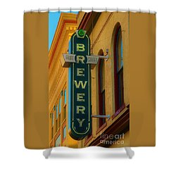 Front Street Brewery Shower Curtain by Bob Sample
