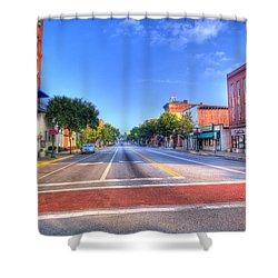 Front Street Marietta Shower Curtain by Jonny D