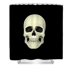 Front View Of Human Skull Shower Curtain by Stocktrek Images