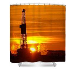 Frontier Nineteen Xto Energy Culbertson Montana Shower Curtain