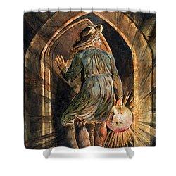 Frontispiece To Jerusalem Shower Curtain by William Blake
