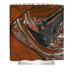 Shower Curtain featuring the digital art Frost And Woodsmoke 1 by Judi Suni Hall