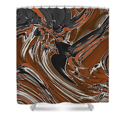 Shower Curtain featuring the digital art Frost And Woodsmoke  by Judi Suni Hall