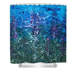 Lagoon Bloom Shower Curtain