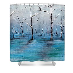 Shower Curtain featuring the painting Frost Like Ashes by Meaghan Troup