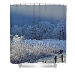 Frosty Cades Cove Shoot Shower Curtain by Douglas Stucky