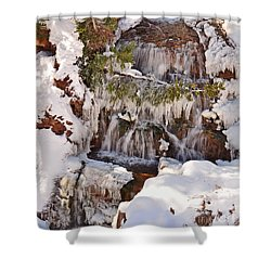 Frosty Cascades Shower Curtain