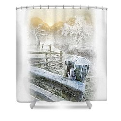 Frosty Morning Shower Curtain by Mo T