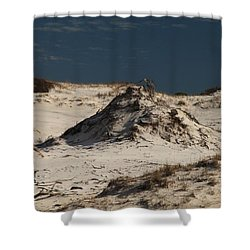 Frosty White Dunes Shower Curtain by Adam Jewell