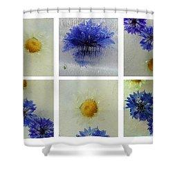 Shower Curtain featuring the photograph Frozen Blue by Randi Grace Nilsberg
