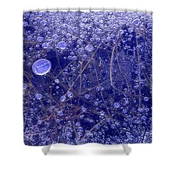Shower Curtain featuring the photograph Frozen Bubbles In The Merced River Yosemite Natioinal Park by Dave Welling