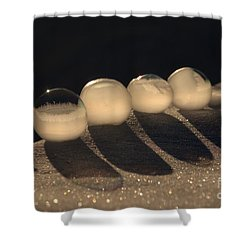 Frozen Bubbles Shower Curtain
