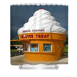 Frozen Custard Before The Storm Building Shower Curtain