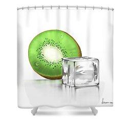 Frozen Fruit Shower Curtain by Veronica Minozzi