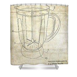 Frozen Margarita Recipe Patent Shower Curtain by Edward Fielding