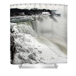 Frozen Niagara And Bridal Veil Falls Shower Curtain by Rose Santuci-Sofranko