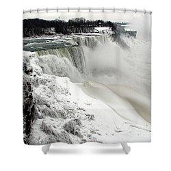 Frozen Niagara And Bridal Veil Falls Shower Curtain