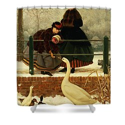 Frozen Out Shower Curtain by George Dunlop Leslie