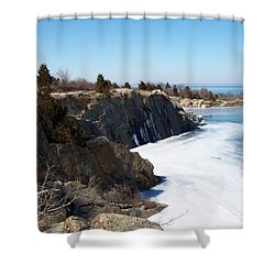 Frozen Quarry Shower Curtain by Catherine Gagne