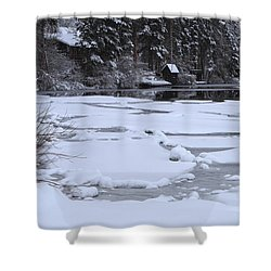 Frozen Silence  Shower Curtain by Duncan Selby