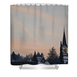 Shower Curtain featuring the photograph Frozen Sky 2 by Felicia Tica
