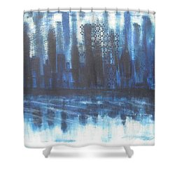 Frozen Skyline Shower Curtain by Diane Pape