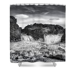 Frozen Splendor Shower Curtain by Evelina Kremsdorf