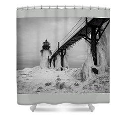 Frozen St. Joseph Lighthouse Shower Curtain