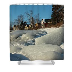 Shower Curtain featuring the photograph Frozen Surf by James Peterson