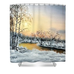 Frozen Shower Curtain by Vesna Martinjak