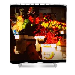 Shower Curtain featuring the photograph Fruit A La Caravaggio by Miriam Danar