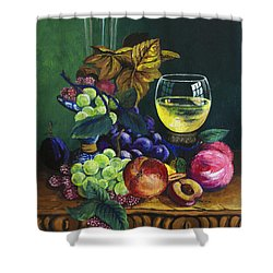Fruit And Wine Shower Curtain