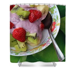 Fruit And Yogurt - Dessert - Food  Shower Curtain by Barbara Griffin