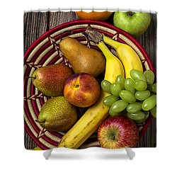 Fruit Basket Shower Curtain by Garry Gay